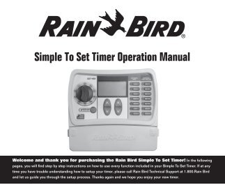 rainbird ag5 maxi paw installation instructions