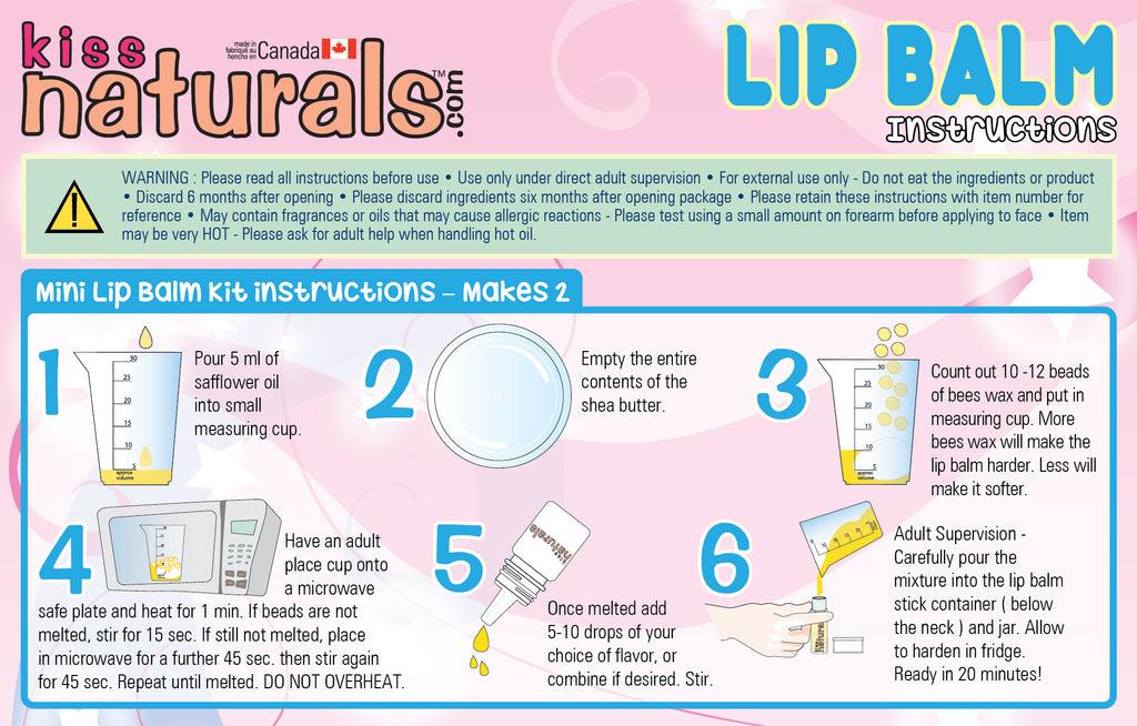 kiss naturals lip balm instructions