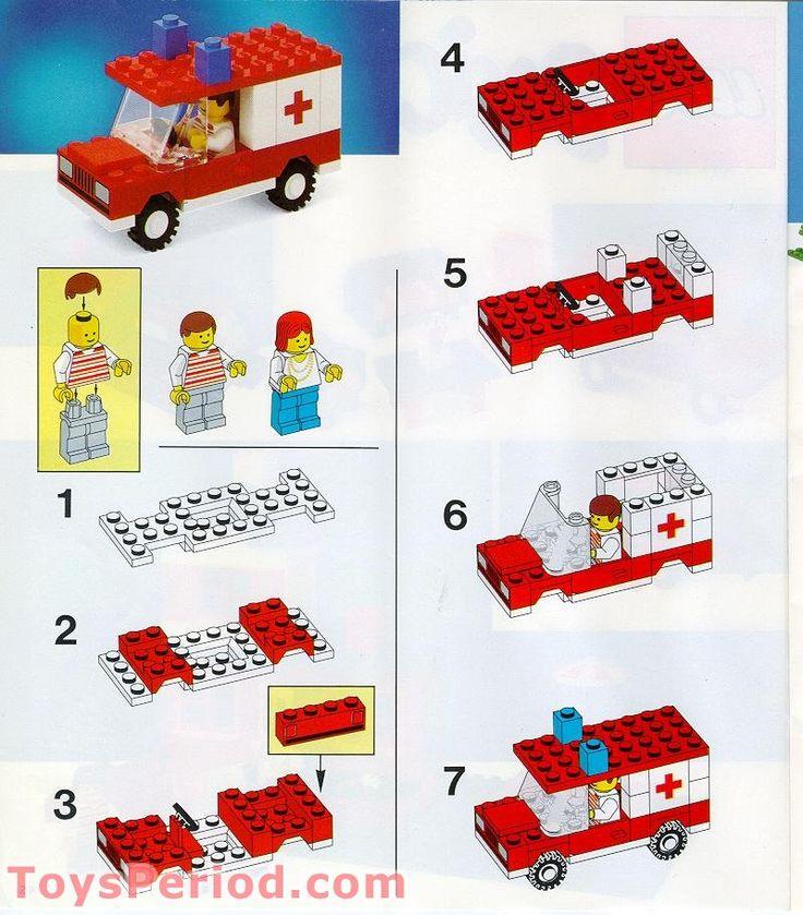 lego ambulance airplane instructions