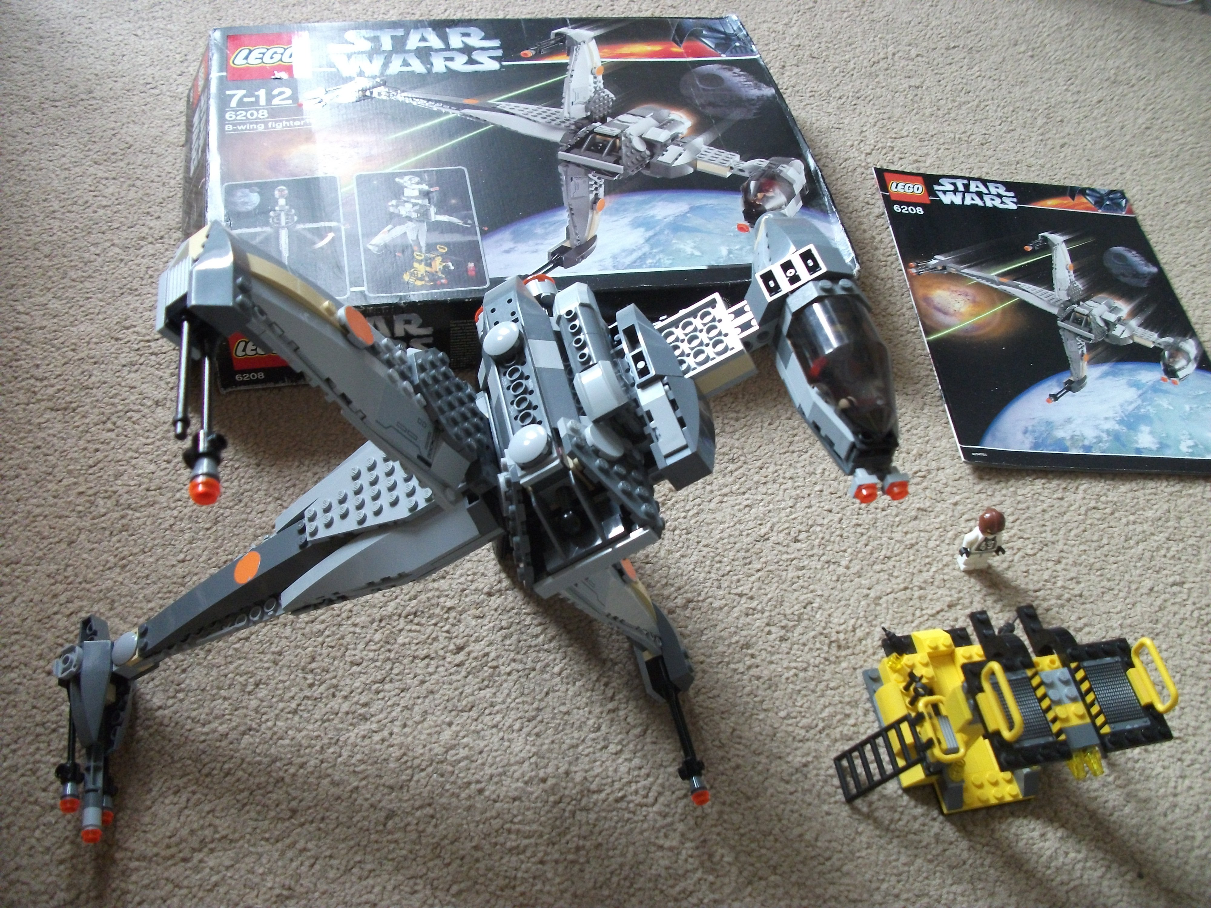 lego b wing 6208 instructions