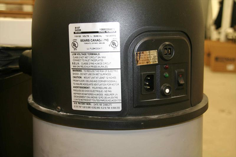 kenmore central vacuum installation instructions