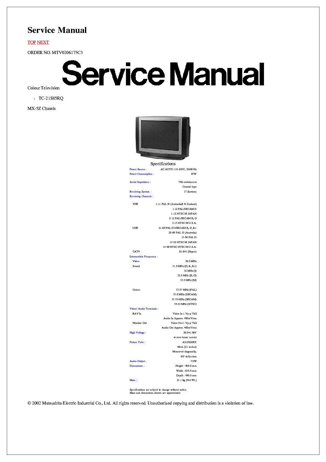 panasonic tv instruction manuals