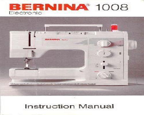 bernina 1230 instruction manual