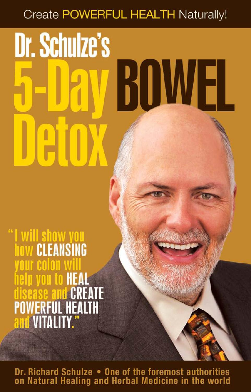 dr schulze bowel cleanse instructions