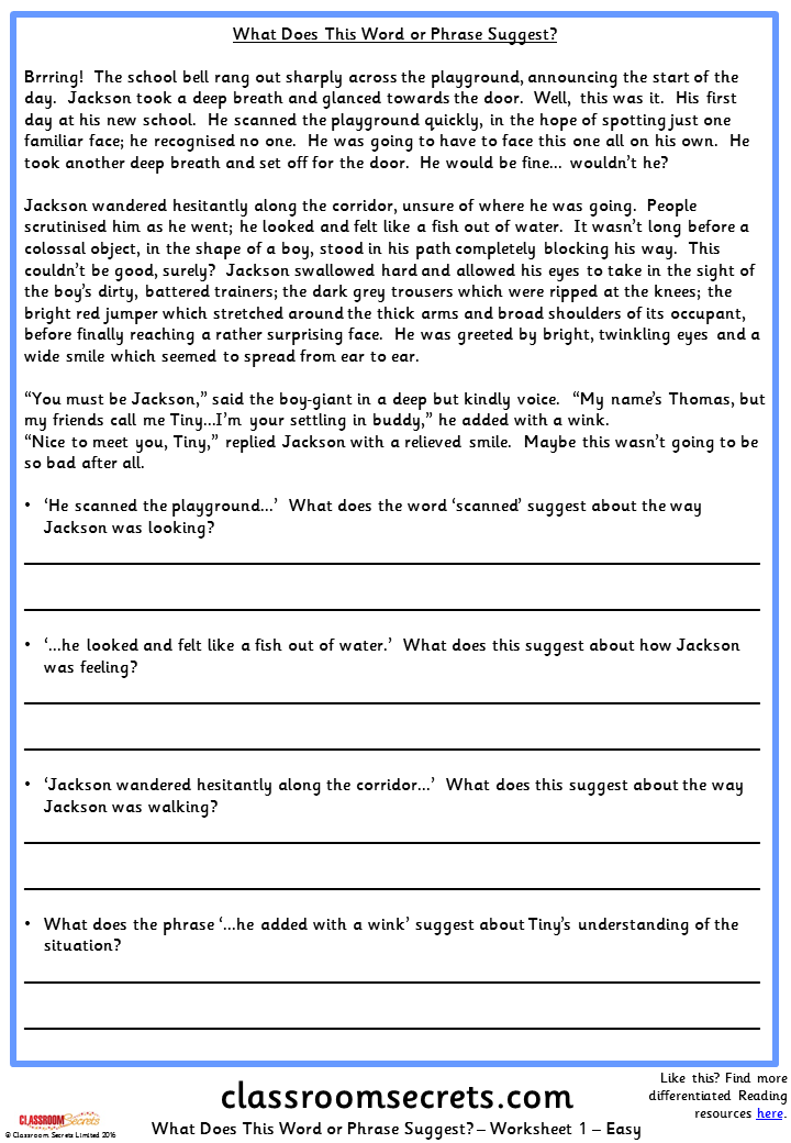 examples of instructions ks2