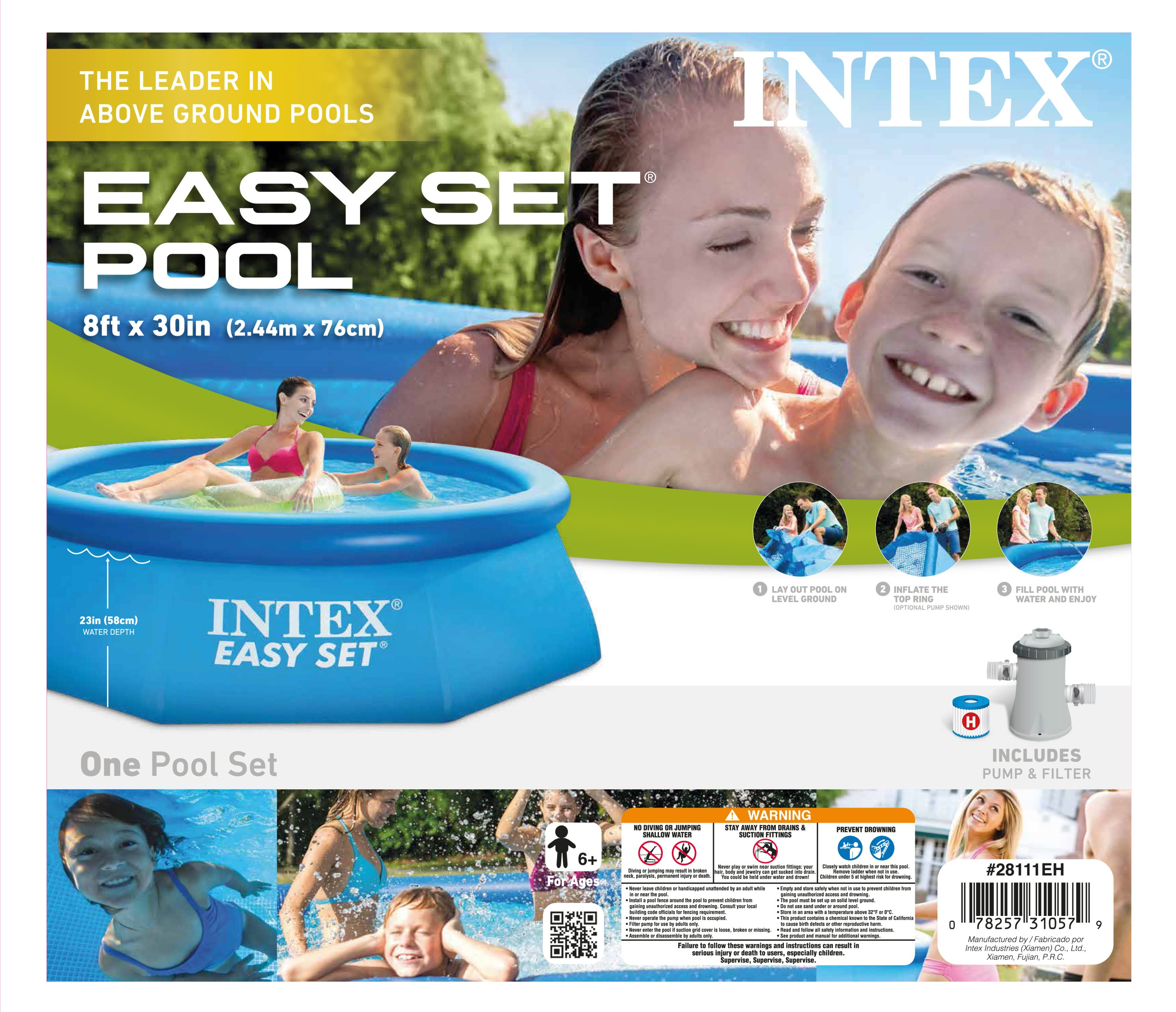 intex easy set pool instructional video