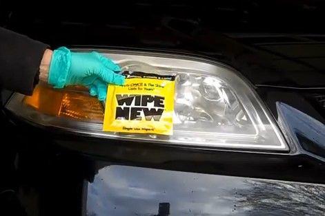 wipe new headlight restore instructions