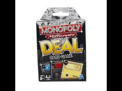 monopoly millionaire deal card game instructions
