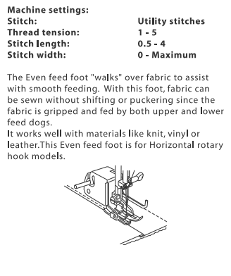 janome walking foot instructions
