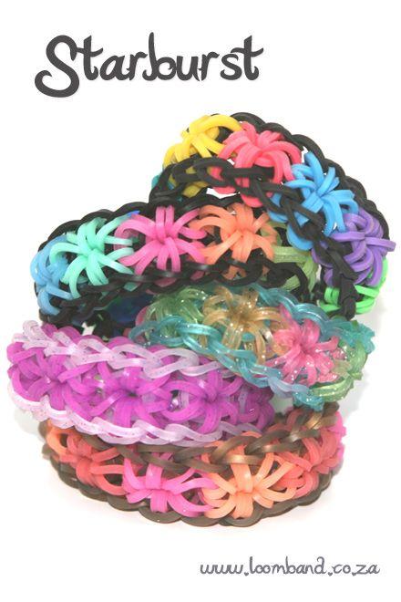 starburst rainbow loom instructions