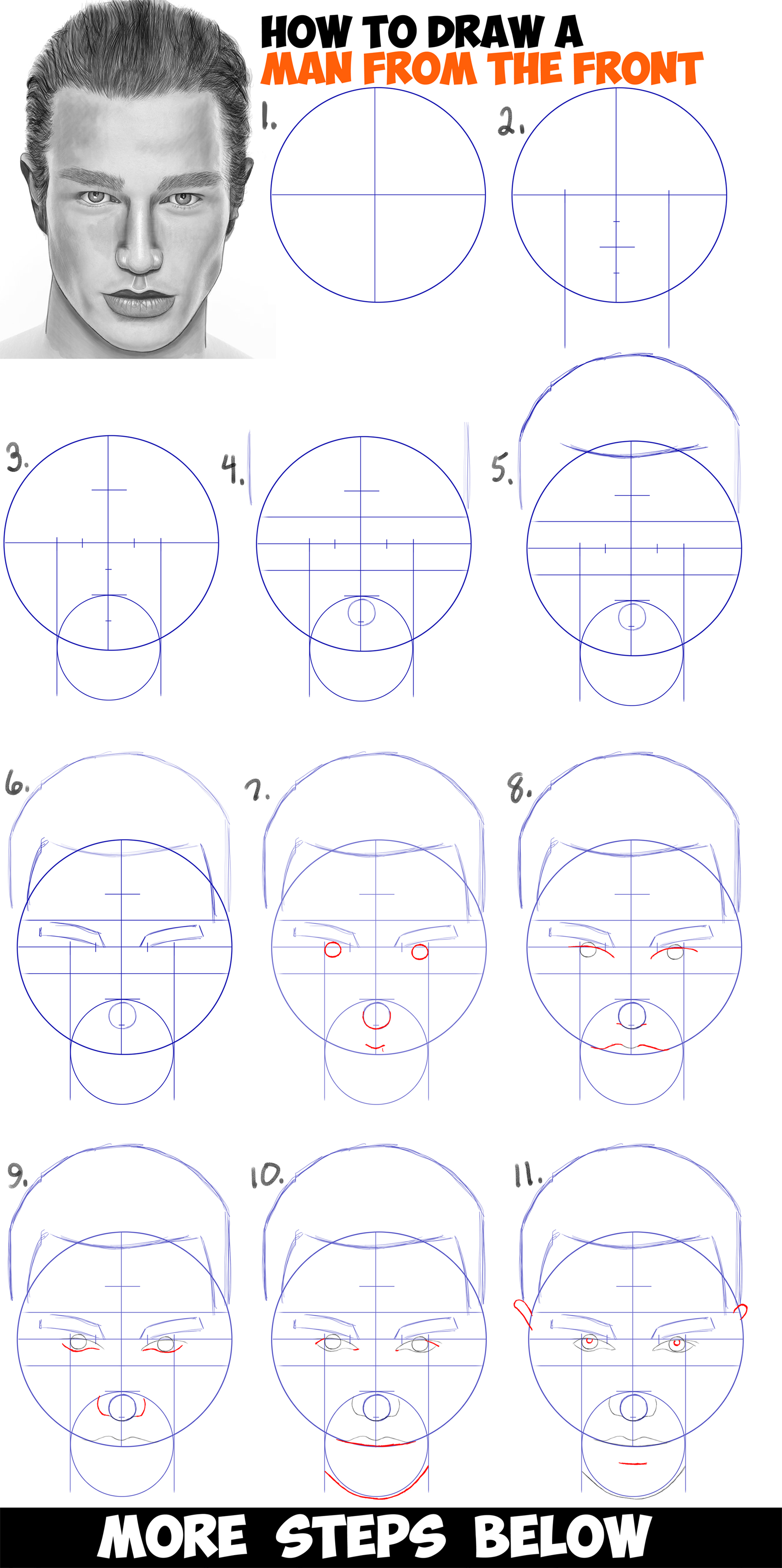 step by step drawing instructions