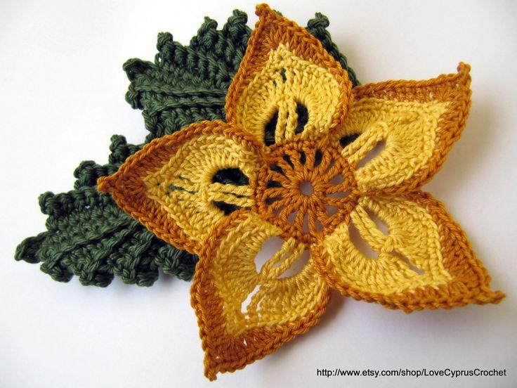 easy crochet flowers instructions