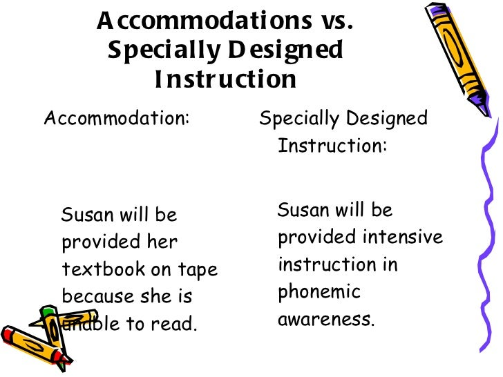 specially designed instruction examples