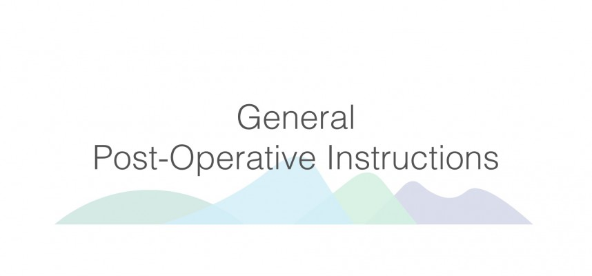 post operative instructions after dental implant surgery