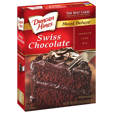 duncan hines chocolate cake mix instructions
