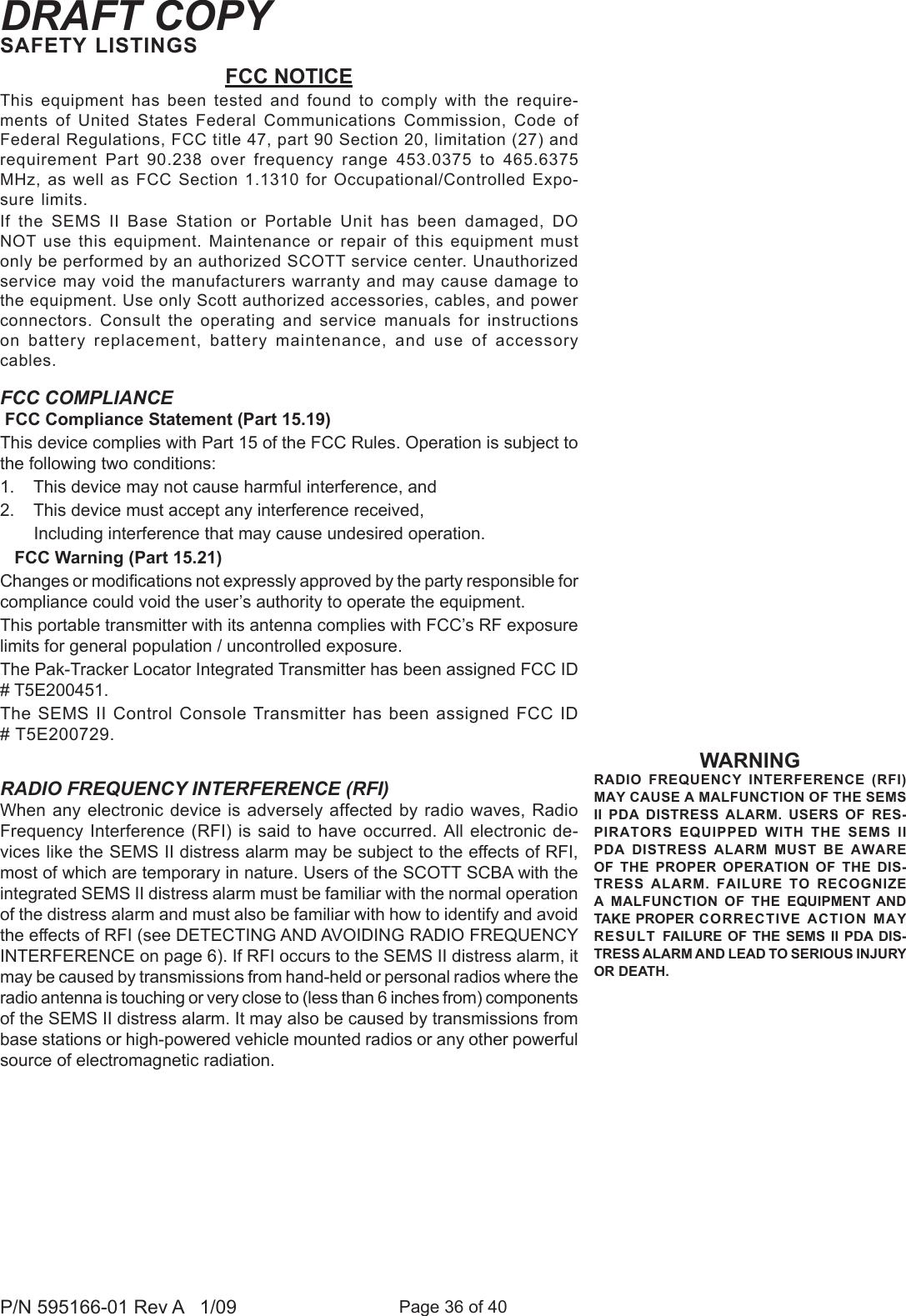 scott pak tracker user instructions