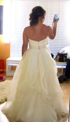 how to bustle a wedding dress instructions