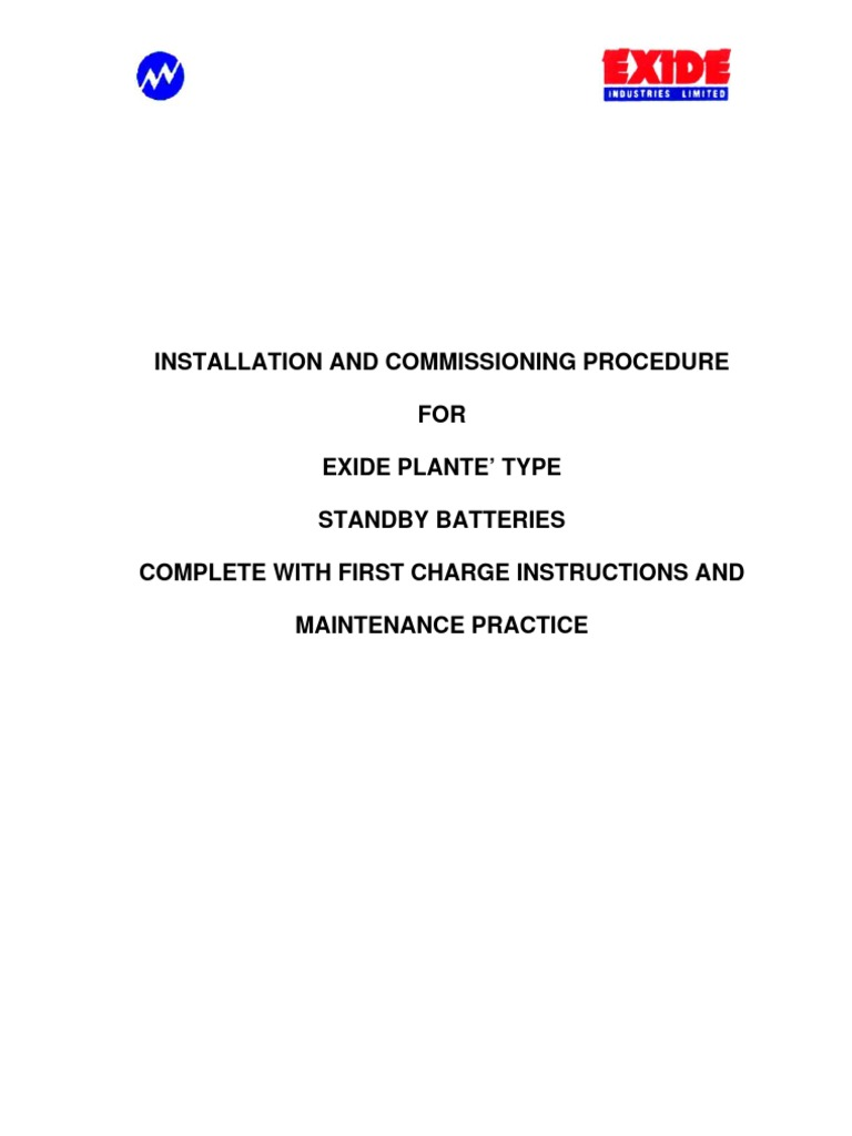 exide nautilus battery charger instructions