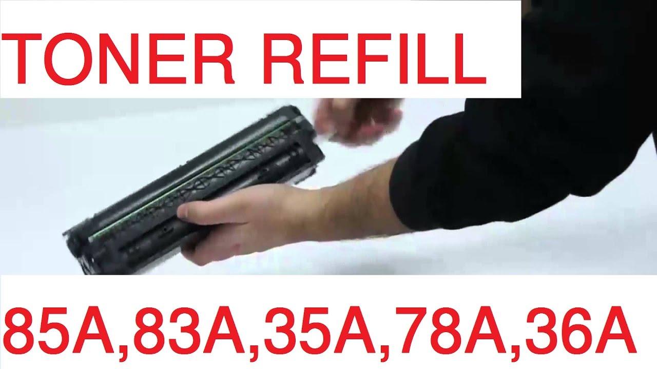hp 85a toner refill instructions