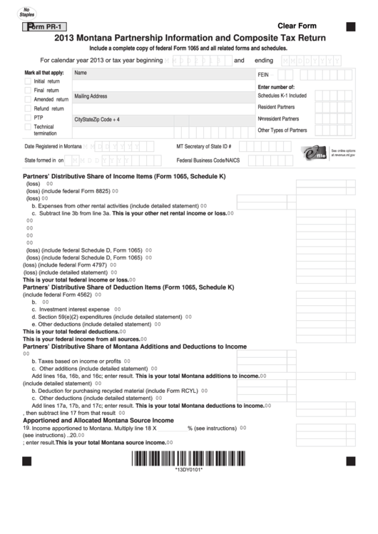 2013 tax return instructions