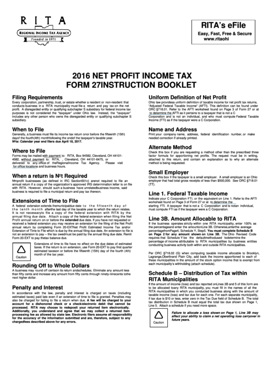 2016 income tax forms and instructions
