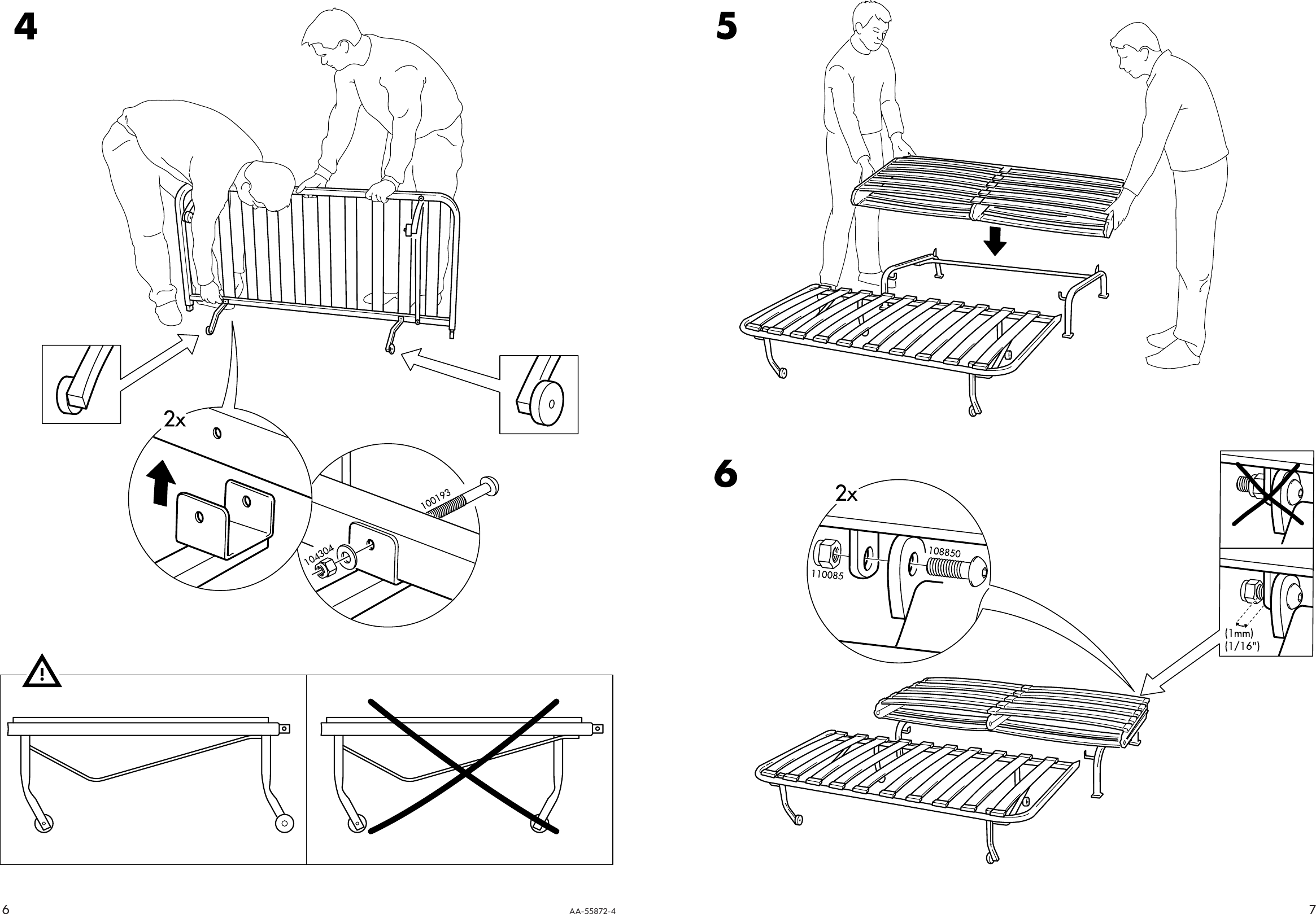 ikea bed frame assembly instructions