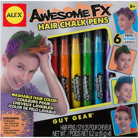 alex hair chalk pens instructions
