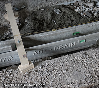 aco drain k100 installation instructions