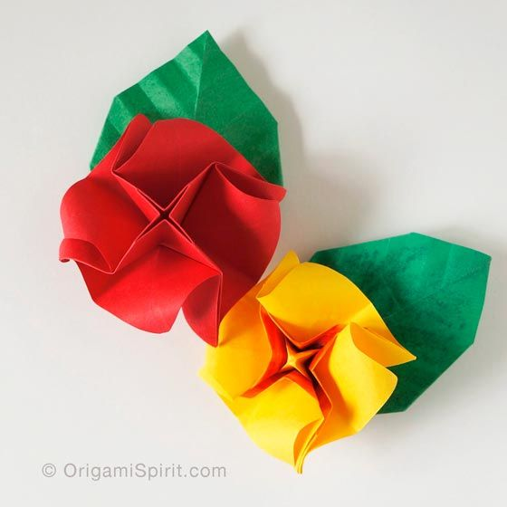 origami rose instructions step by step easy