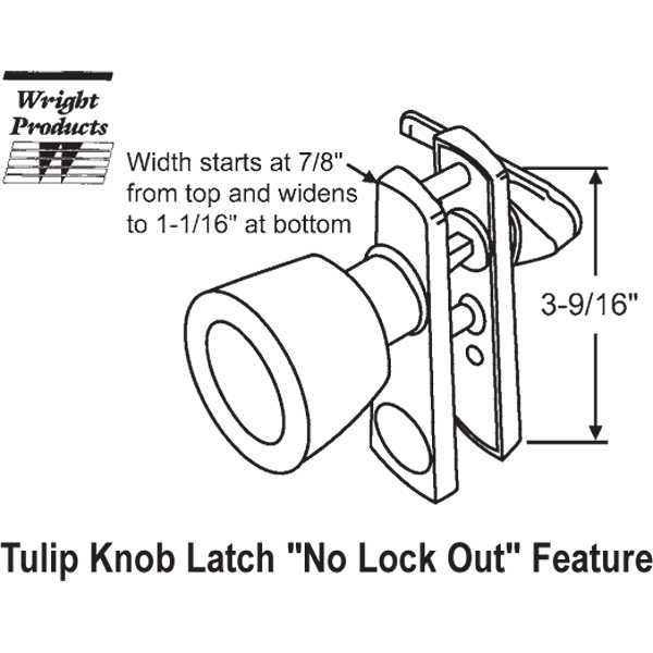 wright screen door closer instructions
