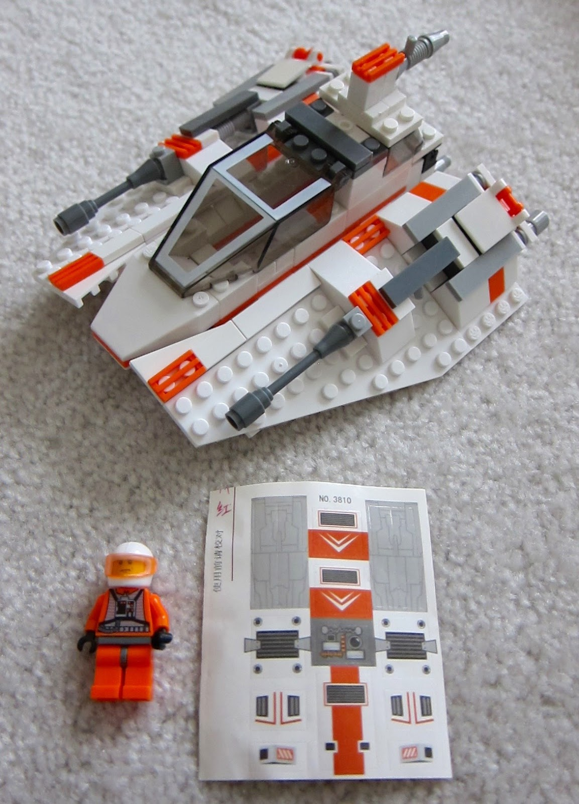 lego snowspeeder instructions 7130