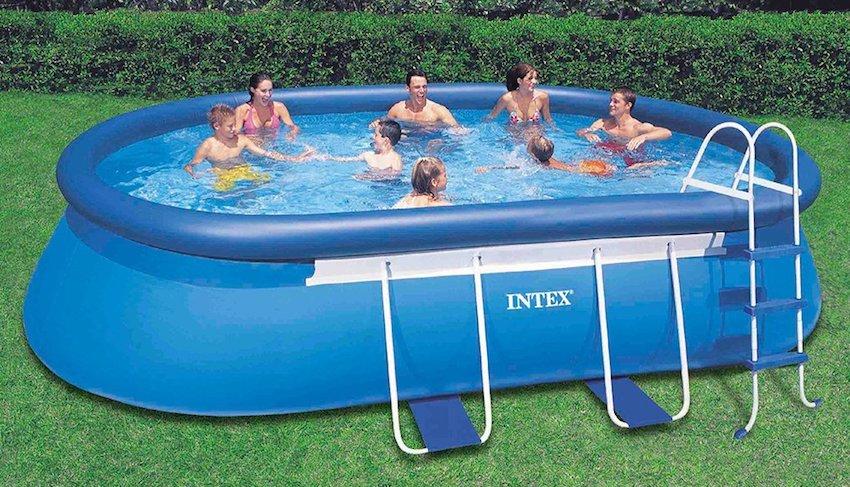 intex rectangular metal frame pool setup instructions