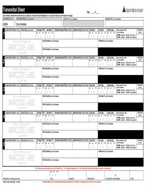 iron mountain transmittal sheet instructions