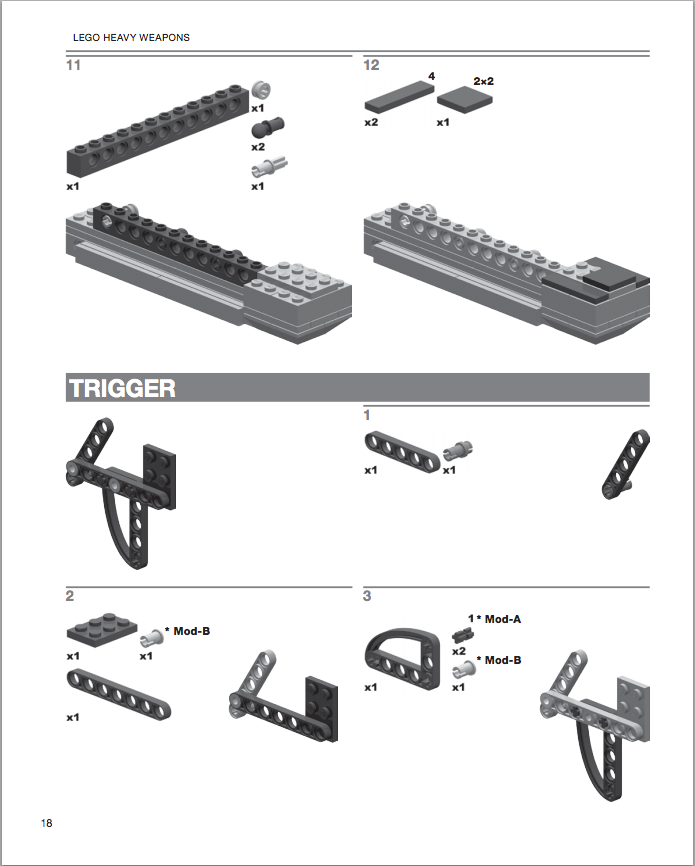 lego gun instructions step by step
