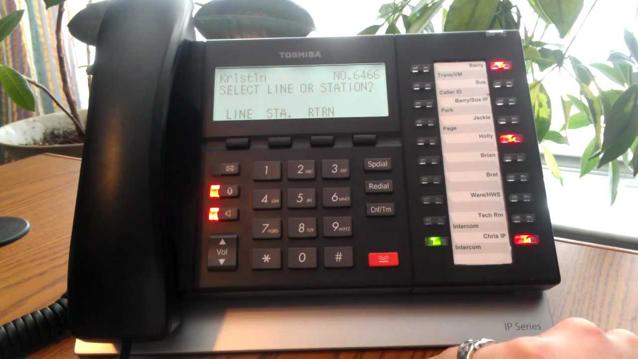 toshiba phone conference call instructions