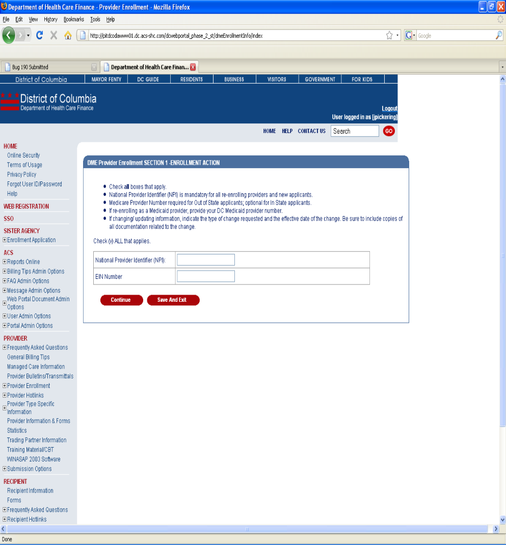 medicaid provider enrollment application instructions
