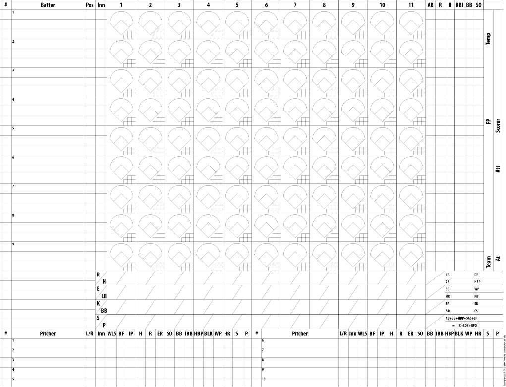 baseball score sheet instructions