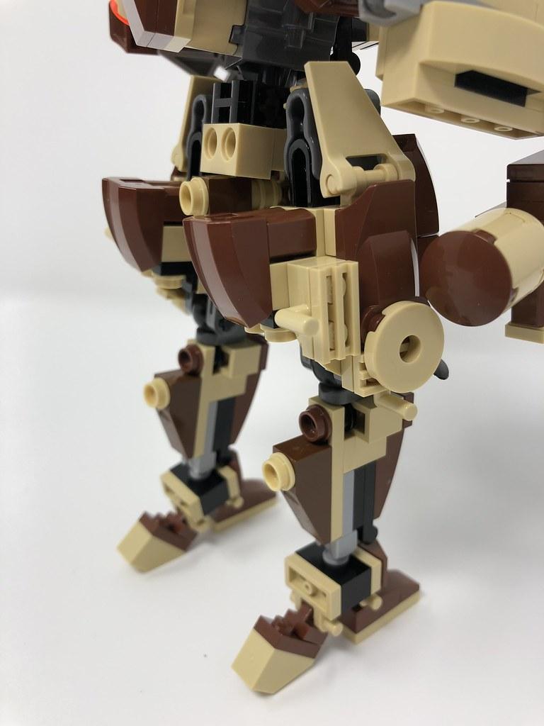 easy lego mech instructions