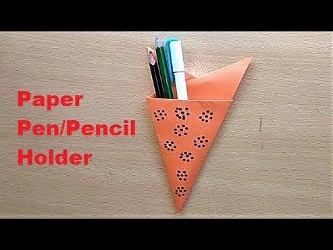 origami pencil case instructions