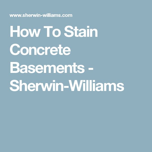 sherwin williams concrete stain instructions