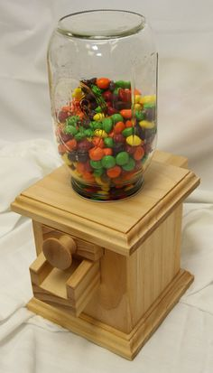 wooden gumball machine instructions