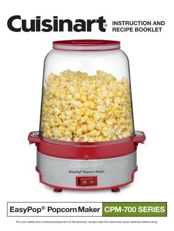 cuisinart popcorn maker instructions