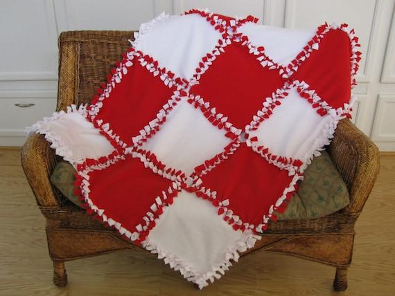 patchwork fleece blanket instructions