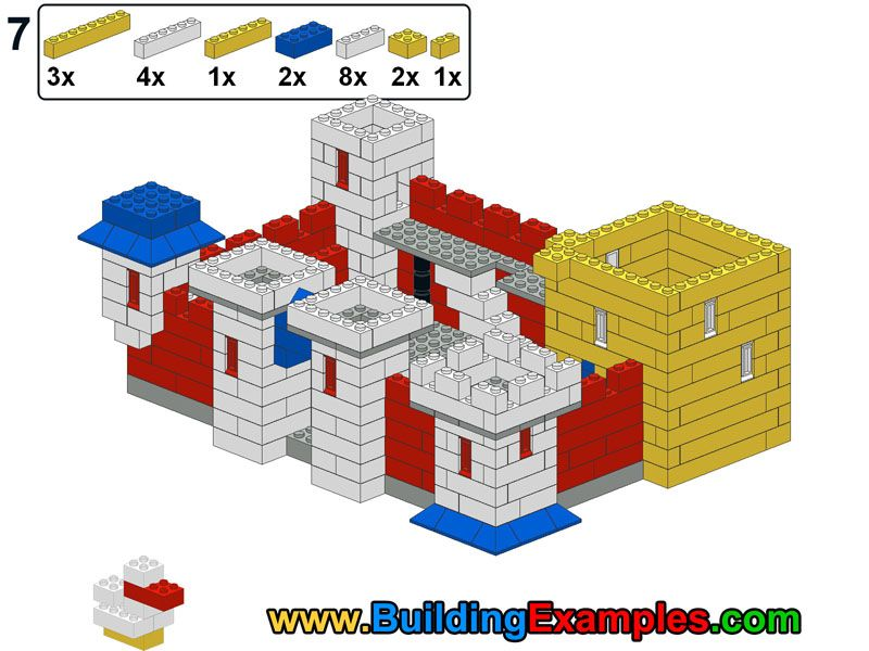 lego yellow castle instructions