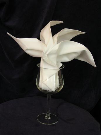 candle napkin fold instructions