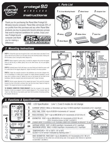 rolson bicycle computer instructions