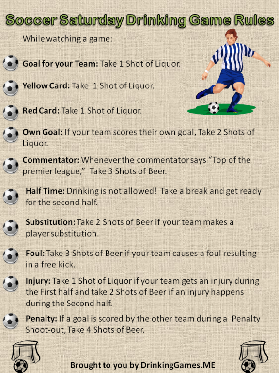 waterfall drinking game instructions