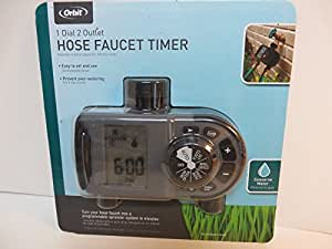 orbit 2 outlet hose faucet timer instructions