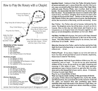 instructions on how to pray the rosary
