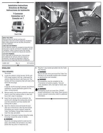 proflex 90 installation instructions